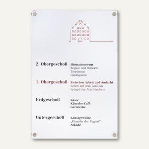 Officio GALERIE Türschild, DIN A4, 210 x 297 mm, ESG-Scheiben, 2 Stück, I7706E4S