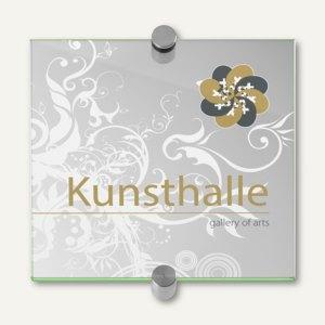 officio GALERIE select Türschild, 148 x 148 mm, ESG-Scheiben, 4 Stück, I7600EV2