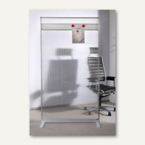Raumteiler, Acryl/Alu/Metall, magnethaftend, 1.800x1.000x500 mm, halbtransparent