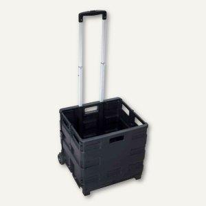 Klapp-Transportkarre mit Klappbox, PP, Tragkraft: bis 35 kg, (H)1.000 mm, 804612
