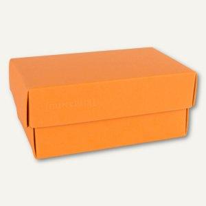 Geschenkschachteln A7, Karton, 10.2 x 6.5 x 4.6 cm, 350 g/m², orange, 12er-Pack