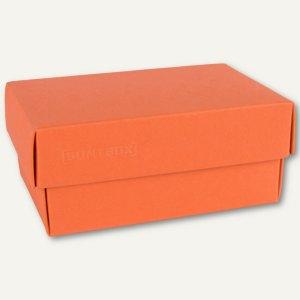 Geschenkschachteln A7, Karton, 10.2x6.5x4.6 cm, 350g/m², dunkelorange, 12er-Pack