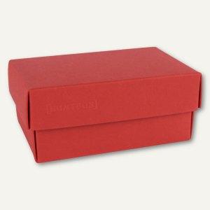 Geschenkschachteln A7, Karton, 10.2 x 6.5 x 4.6 cm, 350 g/m², rot, 12er-Pack
