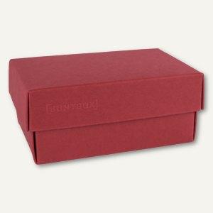 Geschenkschachteln A7, Karton, 10.2x6.5x4.6 cm, 350g/m², dunkelrot, 12er-Pack