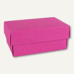 Geschenkschachteln A7, Karton, 10.2 x 6.5 x 4.6 cm, 350 g/m², pink, 12er-Pack
