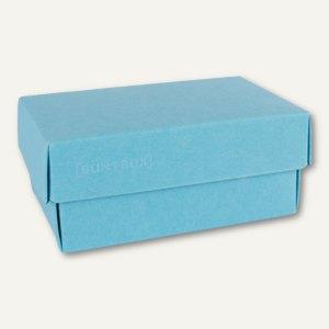 Geschenkschachteln A7, Karton, 10.2 x 6.5 x 4.6 cm, 350g/m², hellblau, 12er-Pack
