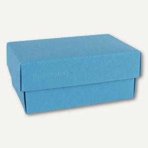 Geschenkschachteln A7, Karton, 10.2 x 6.5 x 4.6 cm, 350g/m², meerblau, 12er-Pack