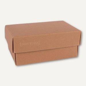 Geschenkschachteln A7, Karton, 10.2 x 6.5 x 4.6 cm, 350 g/m², braun, 12er-Pack