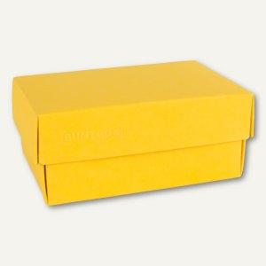 Buntbox Geschenkschachteln A6, Karton, 17 x 11 x 6 cm, 350g/m², gelb, 12er-Pack