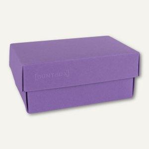 Buntbox Geschenkschachteln A6, Karton, 17 x 11 x 6 cm, 350g/m², lila, 12er-Pack