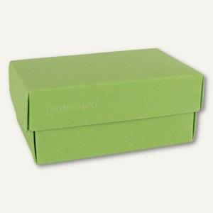 Geschenkschachteln A5, Karton, 26.6x17.2x7.8 cm, 350 g/m², hellgrün, 12er-Pack