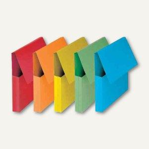 officio Dokumententasche mit Klappe, DIN A4, 240 g/qm, sortiert, 50 Stück