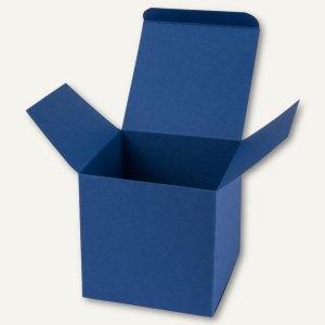 Würfelschachtel / klein, Karton, 5.5 x 5.5 x 5.5 cm, 350 g/m², dunkelblau, 12St.