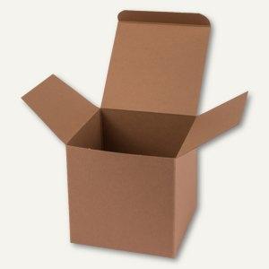Würfelschachtel / klein, Karton, 5.5 x 5.5 x 5.5 cm, 350 g/m², braun, 12 St