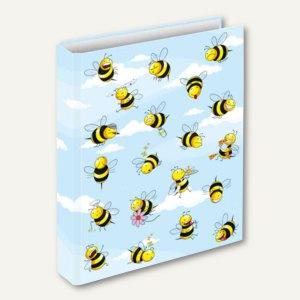 "RNK Ringbuch ""Crazy Bees"", DIN A4, Ø 25 mm, Karton, 46494"