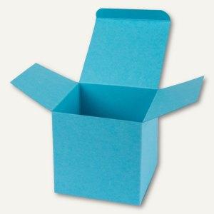 Würfelschachtel / mittel, Karton, 9 x 9 x 9 cm, 350 g/m², hellblau, 12 St.