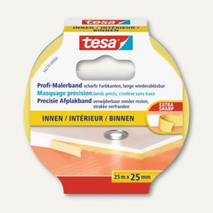 Tesa Maler-Krepp Precision Indoor Abdeckband, 25 mm x 25 m, 56270-00000-00
