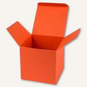 Würfelschachtel / groß, Karton, 14 x 14 x 14 cm, 350 g/m², dunkelorange, 12 St.