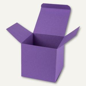 Buntbox Würfelschachtel / groß, Karton, 14 x 14 x 14 cm, 350 g/m², lila, 12 St.