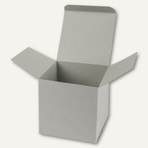 Würfelschachtel / groß, Karton, 14 x 14 x 14 cm, 350 g/m², hellgrau, 12 St.