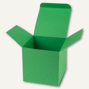 Buntbox Würfelschachtel / groß, Karton, 14 x 14 x 14 cm, 350 g/m², grün, 12 St.
