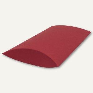 Kissenschachtel / klein, Karton, 16 x 11 x 3 cm, 350 g/m², dunkelrot, 12 St.