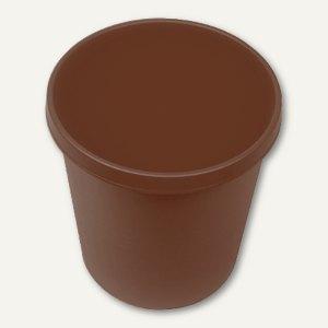 Helit Objekt-Papierkorb, 18 Liter, braun, H6105875