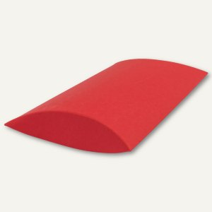 Buntbox Kissenschachtel / mittel, Karton, 23 x 16 x 4 cm, 350 g/m², rot, 12 St.