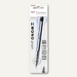 "Tombow Druckbleibstift ""MONO GRAPH"", 0.5 mm Mine, schwarz-blau, SH-MG-BS"