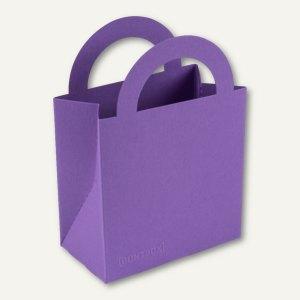 Bunttasche / klein, Karton, Griff, 9.5 x 5.2 x 13.2 cm, 350 g/m², lila, 12 St.