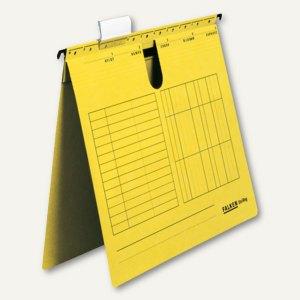 Hängehefter UniReg DIN A4, kaufmännische Heftung, 230 g/m², gelb, 25 Stück, 8000