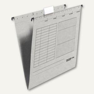 Hängemappe UniReg DIN A4, Kraftkarton, seitlich offen, 230 g/m², grau, 25 St., 8