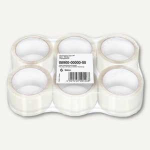 Tesa Packband, PP, (L)66 m x (B)50 mm, transparent, 6er-Pack, 08900-00000-00
