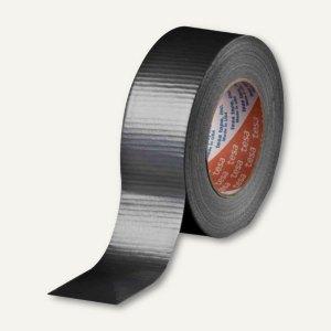 Tesa Gewebeband 4662, Baumwollgewebe, 48 mm x 50 m, schwarz, 04662-00194-00