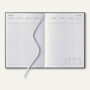 officio Buchkalender VIENNA, 1Woche/2Seiten, 17.2 x 24 cm, rot/braun