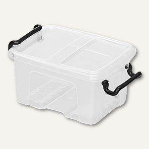Mehrzweckbox Strata / 0.4 Liter, PP, Deckel, stapelbar, 125x67x98mm, transparent