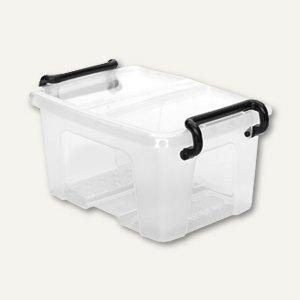Mehrzweckbox Strata / 1.7 Liter, PP, Deckel, stapelb., 140x120x205mm,transparent