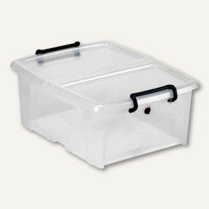 Mehrzweckbox Strata / 20l, PP, Deckel+Frontöffnung, stapelb., 360x190x490mm, HW6