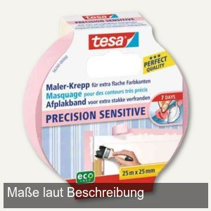 Maler-Krepp Precision Sensitive Abdeckband, 38 mm x 25 m, rosa, 56261-00000-00