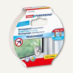 Montageband POWERBOND, doppelseitig, 19 mm x 5 m, transparent, 55744-00001-02