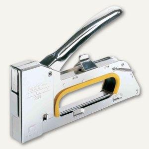 Handtacker PRO R23E ergonomic, Stahl, für Klammern 13/4, 13/6, 13/8, silber, 205