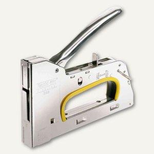 Handtacker PRO R33E ergonomic, Stahl, für 13/6, 13/8, 13/10, 13/12, 13/14,silber