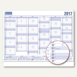 Güss Arbeitstagekalender DIN A5, 6 Monate/1 Seite, 21 x 14.8 cm, 22000
