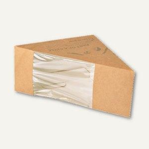 """Sandwichboxen, Pappe """"pure"""", mit Sichtfenster, 12.3 x 12.3 x 8.2 cm, 500 Stück,"""