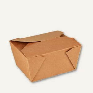"Burgerboxen, Pappe ""pure"", ""To Go"", 6.3 x 9 x 11.3 cm, braun, 500 Stück, 85687"