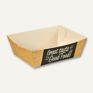 "Papstar Pommes-Frites-Trays, Pappe ""pure"", 3.5 x 7 x 9 cm, 1500 Stück, 85817"