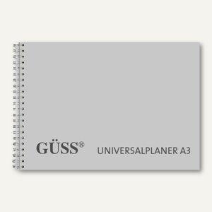 Güss Universalplaner DIN A3 quer, Wire-O, 1 Wo./2 Seiten, grau
