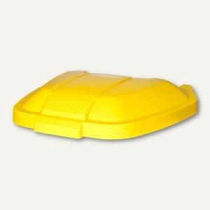 Rubbermaid Deckel für Abfall-Rollcontainer, 515 x 560 x 80 mm, PP, gelb, R002219