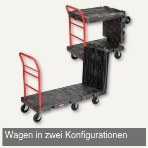 Transportwagen, 1.670x690x1.440mm, 340 / 450 kg, 2 Abstellflächen/konvertierbar,