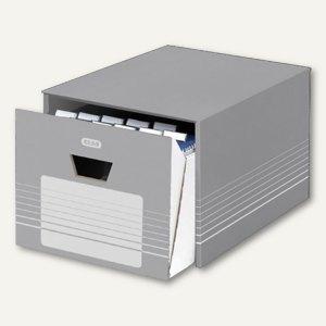 Elba Archivschublade, für DIN A4 Hängeregistraturen, grau/weiß, 400061160